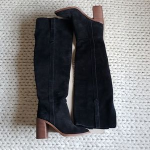 Madewell Suede OTK Boots